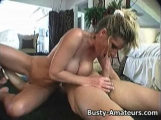 Busty Tera Gives Blowjob And Rides On White Cock