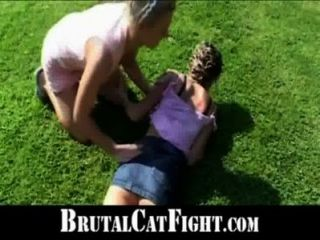 Angry Cheated Wife Shows Slut Mistress Some Respect