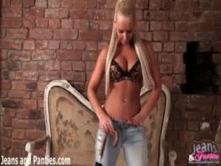 Blonde Amateur Goldy Exposing Her Panties