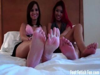 Asia And Ashley Love Getting Their Feet Worshiped