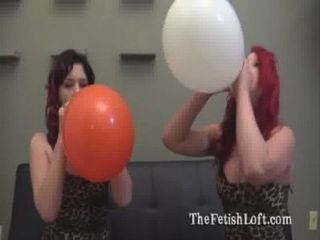 Alura & Felix Sit To Pop Balloon Fetish