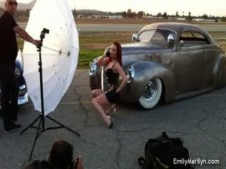 Emily Marilyn Behind The Scenes Photoshoot