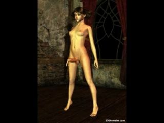 3d Cgi Babe With A Huge Dick