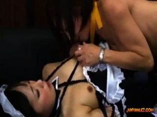 Asian Woman Getting Her Nipples Sucked Pussy Licked Rubbing In Scissor With A Ma