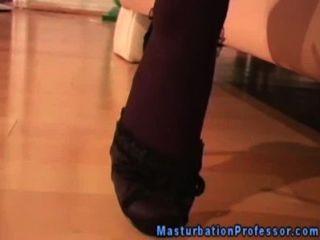 Busty Babe In Stockings Sweet Teasing