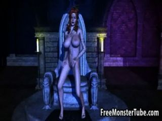 Busty 3d Cartoon Medusa Fingering Her Wet Pussy