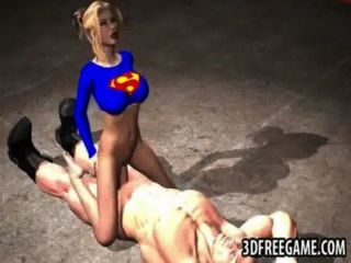 3d Supergirl Sucks Cock And Gets Fucked Hard
