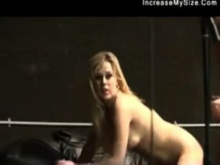 Cute Blonde Is Curvy And Sits On A Dick