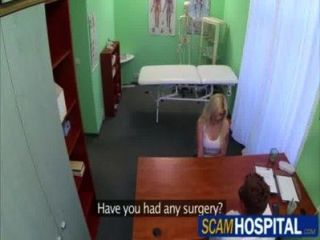 Busty Blonde Gets Fucked By Her Doctor In The Examining Table