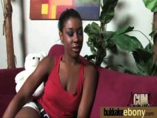 Gorgeous Ebony Lady Sucks White Dicks And Gangbang Fucking 19