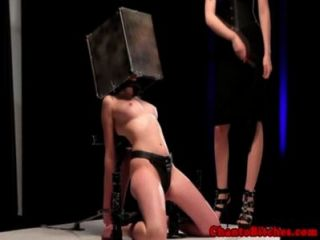 Lezdom Dom Restrains Submissive