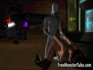 Short Haired 3d Babe Getting Fucked By An Alien