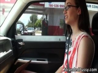 Pretty Hot Babe Tali Dava Gets Horny And Fucked Hard In The Backseat