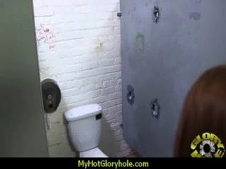 Ebony Teen Shows Off Her Blowjob Skills At Gloryhole 11