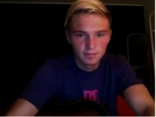 Danish Boy Practicing On Guitar And Plays Cock Until He Comes With His Orgasm