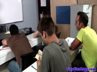 Orgy Loving Gay Hunks Classroom Fuckfest