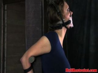 Bonded Mouth Gagged Bitch Gets Humiliated