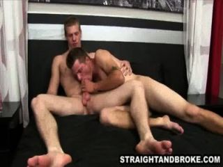 Straight Amateur Hunk Sucks On A Cock For Some Cash