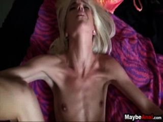 Skinny Blonde Gets Fucked With Hard Dick In Her Asshole Halle Von 1 4
