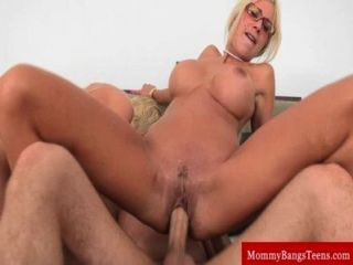 Milf Mama Teaches Teen How To Fuck