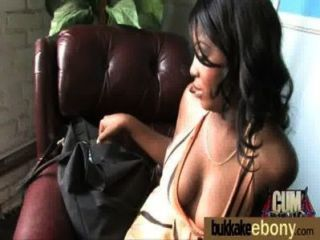 Hot Ebony Chick In Interracial Gangbang 12