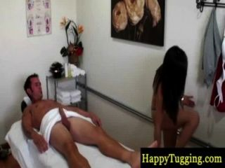Asian Masseuse Jumping On Dong