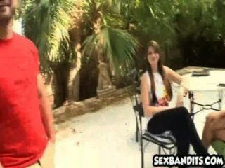 Rachel Starr Takes Advantage Of Amateur Teen Pocahontas Jones With Her Bf 14
