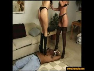 2 Girls Trample Heels