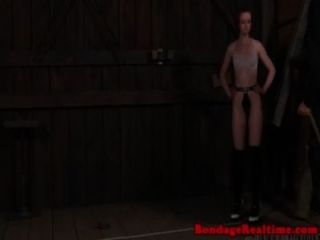 Sub Does Catwalk While Restrained