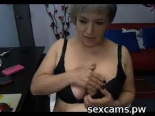 Busty Mature Latina Plays With Pussy