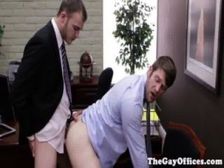 Gay Office Hunk Pounded In His Tight Ass