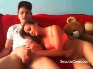 Cute Teen Gives Blowjob