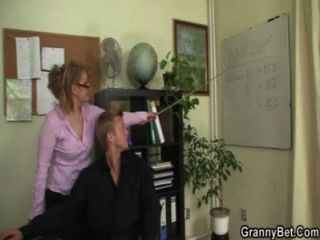 Office Bitch Enjoys Riding His Rod