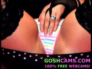 5 Minutes Of Close-up On Teen With Sexy Rainbow Thong Panties And Hooker Outfit