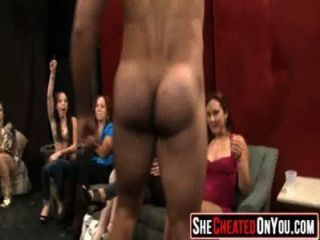 27 Rich Milfs Blowing Strippers At Underground Cfnm Party!33