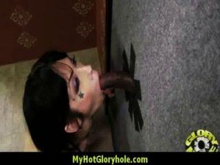 Sexy Wild Lady Deepthroats At Gloryhole 3