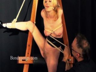 Blonde Bondage Babe Weekays Suspension Rope And Damsel In Distress Roped