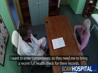 Damn Blonde Victoria Gets Rammed By Her Doctor In The Hot Table