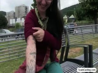 Beautiful Lulu Gets Banged By The Agent In The Public And Gets Creampied