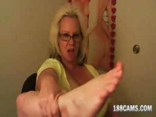 Platinum blonde anglonordic milf big western feet joi - 3 part 1