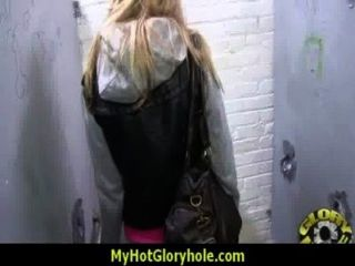 Sexy Wild Lady Deepthroats At Gloryhole 5