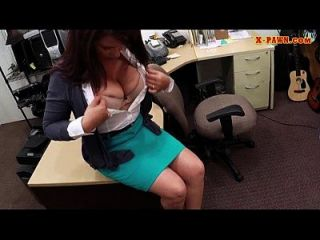 Big Boobs Amateur Milf Sells Her Husbands Stuff For A Bail