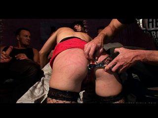 Captive Street Hooker Blowjob Gangbang