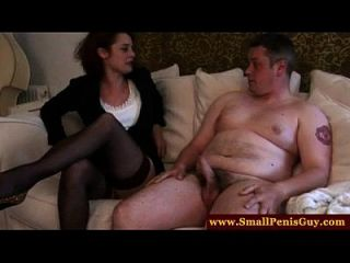 Fetish Dom Disgusted By His Tiny Cock
