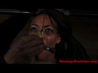 Ebony Sub Gets Bastinado And Tt