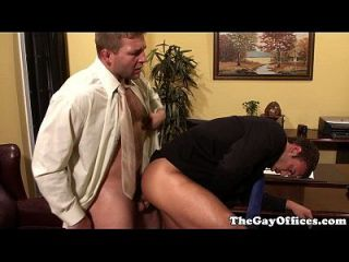 Gaysex Office Hunk Fucking Ass Deeply