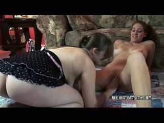 Redhead Hottie Mariah Gets Her Pussy Fucked By Danni