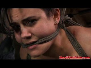 Hogtied Submissive Handling Dildo
