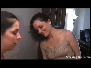 Foot Fetish Lesbian Threesome Orgy