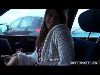 Czech Girl Anastasia Gets Her Hairy Muff Banged In The Car